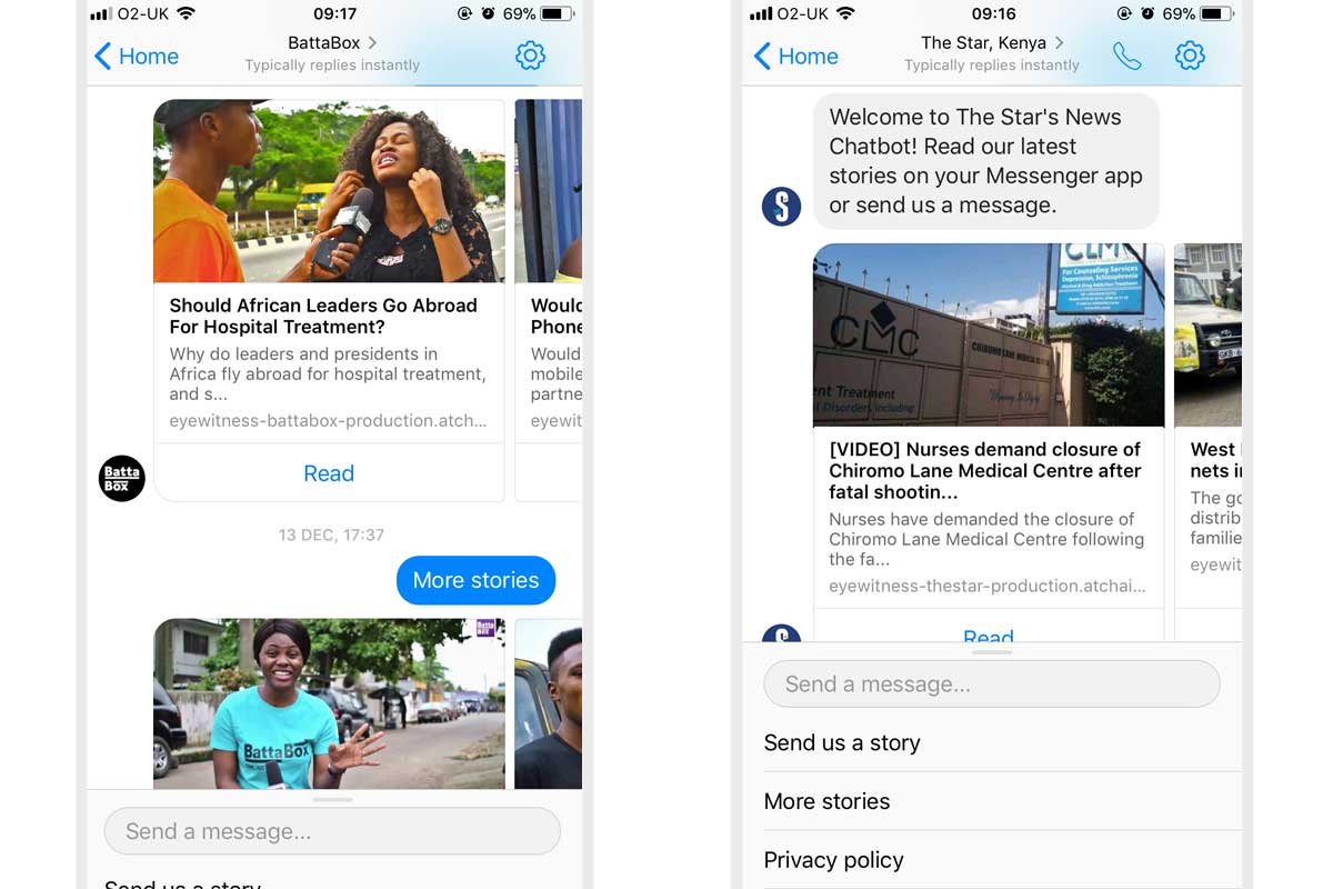 Facebook Messenger bots launched for The Star and Battabox