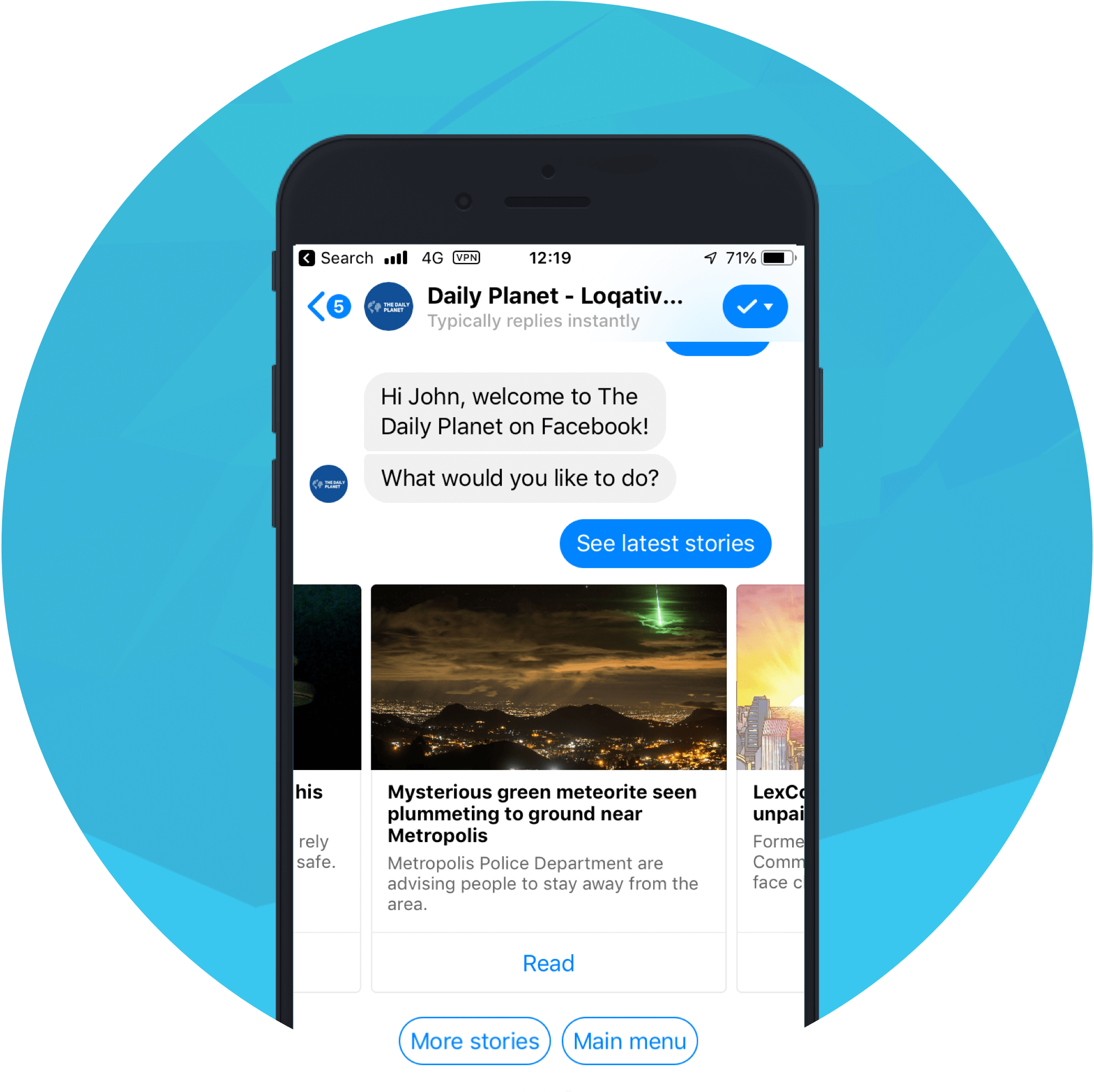 Loqativ facebook messenger bot development